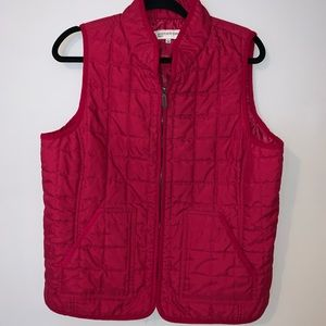 Jones New York Sport Red quilted vest large